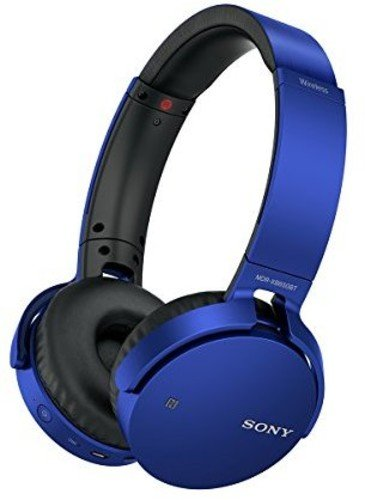 Sony MDRXB650BT/L Extra Bass Bluetooth Headphones, Blue
