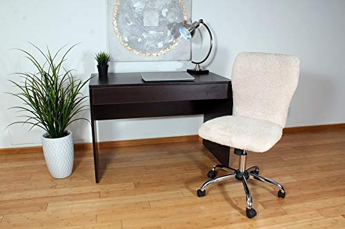 Boss Office Products Tiffany Fur Make-Up Modern Office Chair in Cream