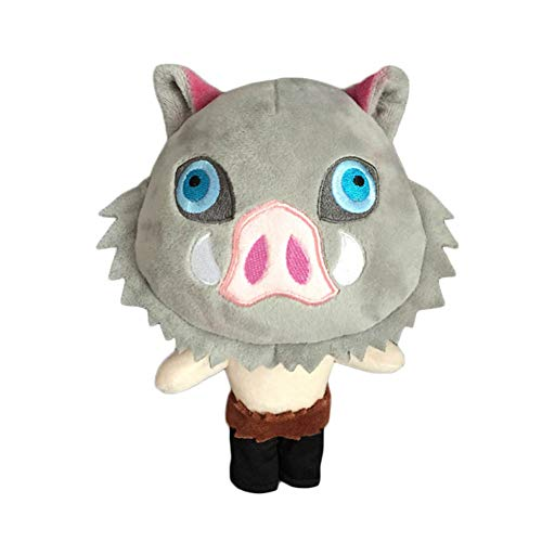 Bowinr Demon Slayer: Kimetsu no Yaiba Plush Toy, 10 inch Super Cute Anime Plush Doll Toy for Home Sofa Decor (Hashibira Inosuke)