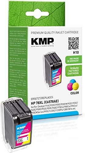 KMP Tintenpatrone Kompatibel mit 78 XL Farbig für HP Deskjet 916C/920C/930C/930CM/932C/935C/940C/950C/952C/959C/960C/970Cxi/980Cxi/990Cxi/990CMSeries/995C/1220C/1220PS/1280/3816/3820/6122/6127/9300