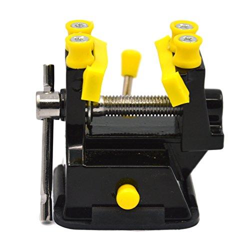 BEETEST Mini DIY mesa ajustable Banco taladro taladro eléctrico abrazadera clip de Vice talla herramienta con Base de ventosa