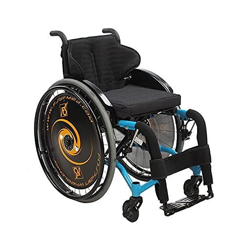 BSJZ Sillas de Ruedas Deportivas autopropulsadas Lghtweight Plegable ergonómico cómodo reposabrazos basculante reposapiernas 36/38/40 cm Asiento, Exterior SPO