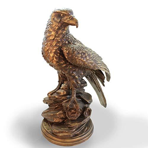 JKMQA Eagle-Ornamente Crafts Antique Copper Innen Wohnzimmer Couchtisch TV Schrank Schreibtisch Dekoration Design Skulptur (Color : A)