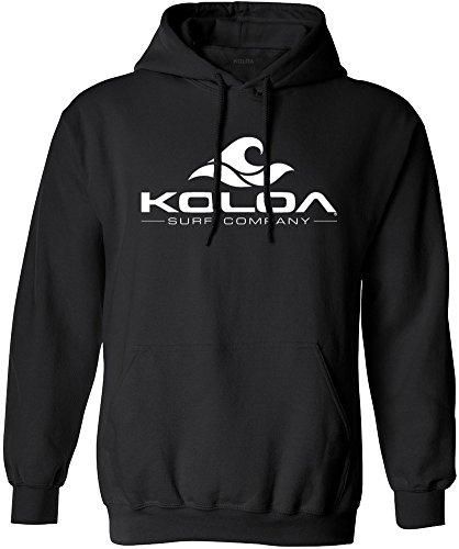 Koloa Surf Wave Logo Hoodies - Hooded Black Sweatshirt, 2XL-Jet Black