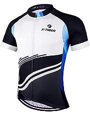 X-TIGER Camisetas de Ciclismo para Hombre, Camiseta Corta, Top de Ciclismo, Jerseys de Ciclismo, Ropa de Ciclismo, Mountain Bike/MTB Shirt