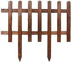 WXking Decoratieve hekken fee tuin accessoires fairy tuinbenodigdheden hout rail piket schermen grens gladde hout hout pik...