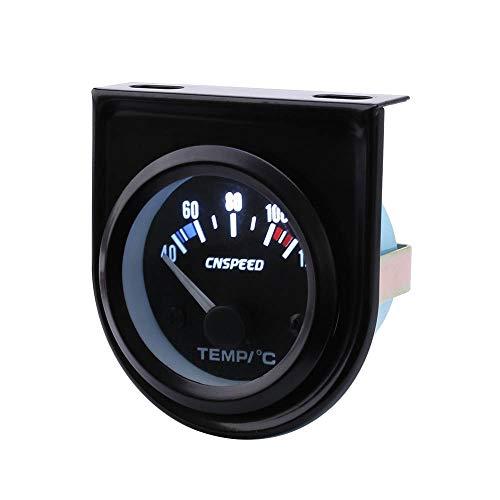 Analizador detector de gas Medidor de temperatura del agua del automóvil de 52 mm Medidor de temperatura del automóvil Panel de la cara negra Medidor automático del medidor de temperatura del agua det