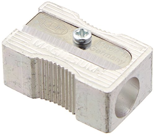 Kum 104.03.01 Magnesium Alloy Metal 1-Hole Steel Blade Rectangular Pencil Sharpeners