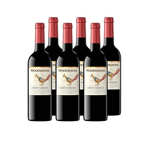 Woodhaven - Cabernet Sauvignon - Vin de Californie - Vin Rouge - Lot de 6 bouteilles x 75 cl