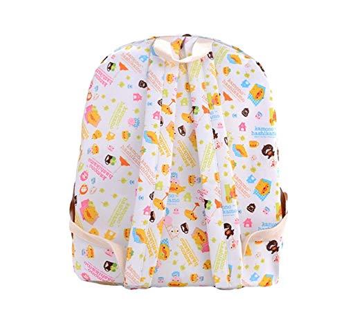 Oinna 1 mochila para mujer de dibujos animados, sencilla mochila para estudiantes, mochila escolar de alta calidad.