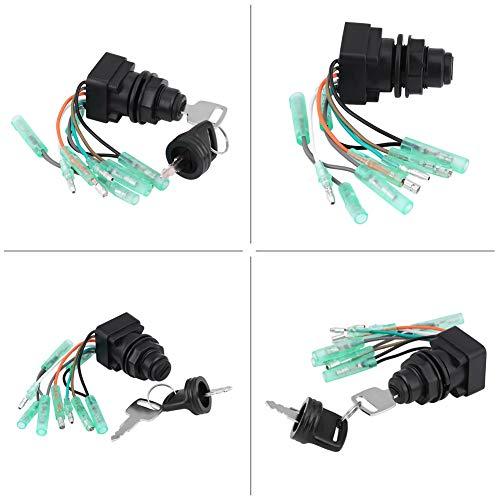Interruptor de llave de encendido Interruptor duradero Juego de llaves Interruptor Kit de reemplazo de automóvil de alta calidad