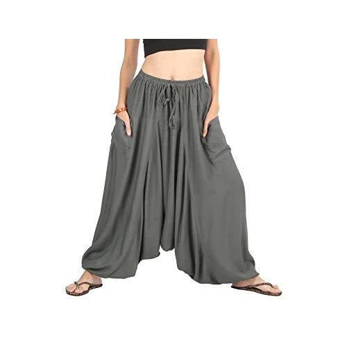 85ef04f098c Whitewhale Men Women Summer Loose Baggy Hippie Boho Gypsy Harem Pants Plus  Size