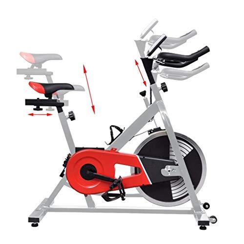 vidaXL Bicicleta estática de ejercicio con sensores pulso: Amazon ...