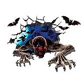 LMSM Vinilos,Pegatinas De Terror,vinilos Pared Decorativos,vinilos WC,Vinilo Mueble,Vinilo Halloween,vinilos Dormitorio,Accesorios De Fiesta De Halloween Decoración del Hogar.-50×70Cm