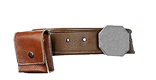 Mesky EU Luke Skywalker Deluxe PU Cinturón para Hombres con Bolsillo Belt Deluxe Props Costume Accesorio Disfraz Cosplay