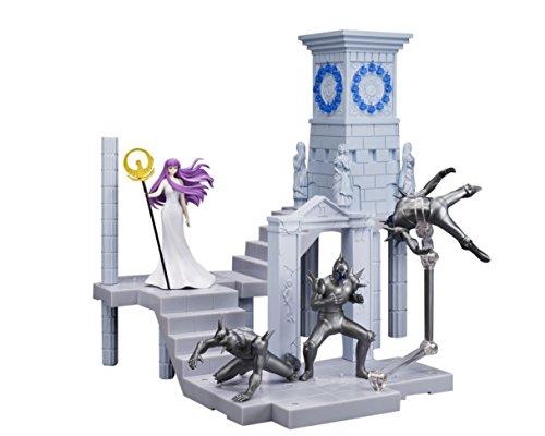 BANDAI–Athene Göttin und Extension Set Uhr Heiligtum, Figur 10cm, Saint Seiya DD panoramation (bdiss128496)