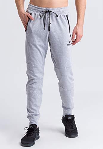 Erima 2101805 Pantalon Homme Gris Clair Chiné/Noir FR : L (Taille Fabricant : L)