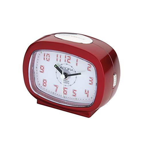 Adora Wecker mit Leuchtziffern auf Knopfdruck A40907 Rot