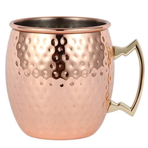 Gesh Taza de cerveza con diseño de moscú, chapada en cobre, para café, taza de café, taza de café, taza de acero