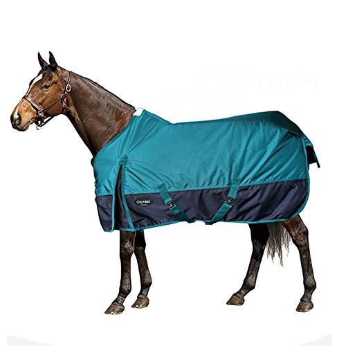 Harness Verstellbare Winterpferdedecke, 2520D Dicke wasserdichte Oxford-Stoff-Warmpferdedecke, atmungsaktives und bequemes Outdoor-Sportpferdekissen (grün)