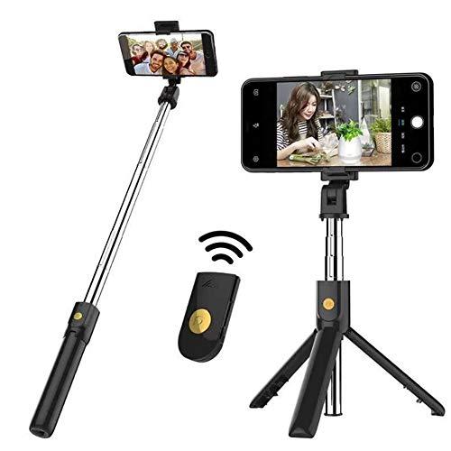 Palo Selfie Trípode con Control Remoto,Monopié con Control Remoto Bluetooth para iPhone,...