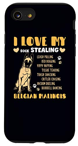 iPhone SE (2020) / 7 / 8 Love My Belgian Malinois Police Dog Lover Gift K-9 Dog Phone Case