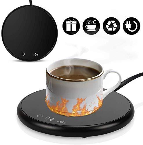 Smart Coffee Warmer, Mug Warmer, Cup Warmer Electric Cup Heater New Version Coffee Mug Warmer for Desk Home Auto Shut Off Mug Warmer with Timer 2 Temperatures Settings