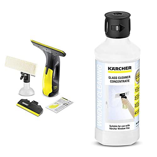 Kärcher 1.633-430.0 Window Vac WV 2 Premium 10 years Limpiadora de ventanas a batería (aspirador limpiacristales) + Limpiacristales RM 500 (6.295-772.0)