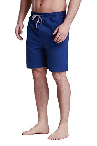 CYZ Herren Schlafshorts – 100% Baumwolle Knit Sleep Shorts & Lounge Wear - Blau -...