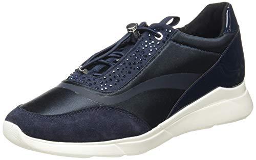 Geox D Hiver D, Zapatillas Mujer, Azul Marino, 35 EU