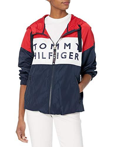 Tommy Hilfiger Damen Colorblock Windbreaker Windjacke, Navy Multi, Klein