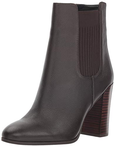 Kenneth Cole New York Women's Justin Heeled Ankle Bootie Boot, Chocolate, 8 M US