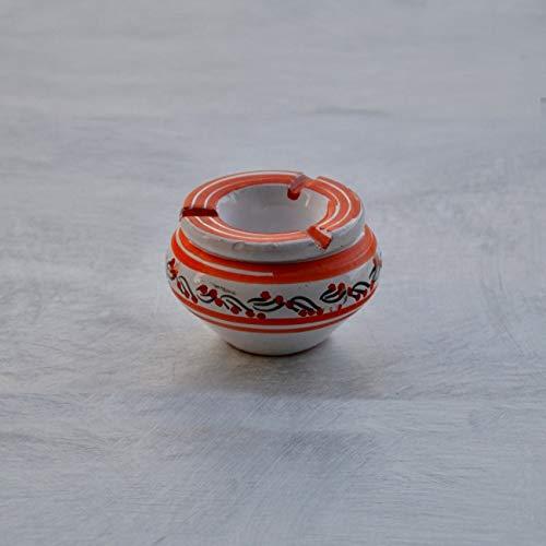 Yodeco - Cendrier anti fumée Tatoué orange et blanc - Mini modèle