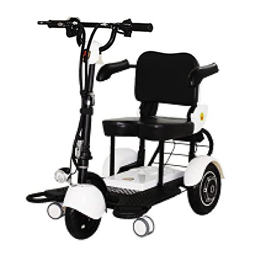 Leichter Zusammenklappbarer Mobilitauml;Tsroller 3 Sekunden Sofort Zusammenklappbares Design, Mobilitauml;Tsroller Elektromotor Mobiler Rollstuhl 4-Rad, Groszlig;E Reichweite