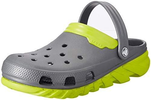 Crocs Duet Max Clog, Unisex - Erwachsene Clogs, Grau (Graphite/Volt Green), 38/39 EU