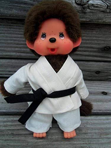 Puppenkleidung handmade Karate Anzug passend für MONCHICHI Gr. 20 cm oder Gr. xxl 45 cm Bekleidung Kleidung teakwondo Gi Judo Aikodo NEU