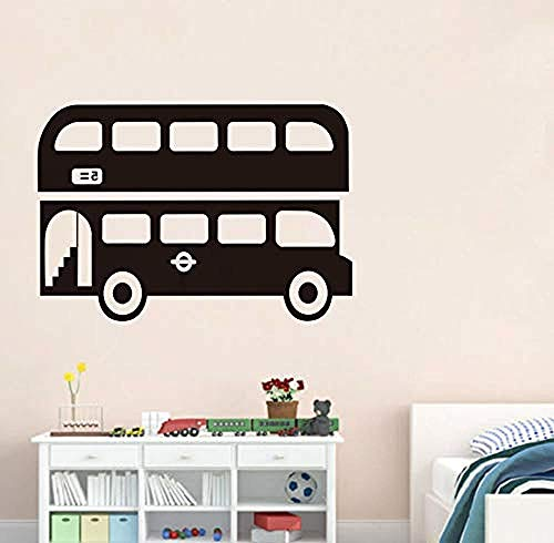 Home Muurstickers Londen Bus Muurstickers Kinderkamer Muurstickers Cartoon Bus Behang Huisdecoratie Waterdichte Art Decal 84X58Cm