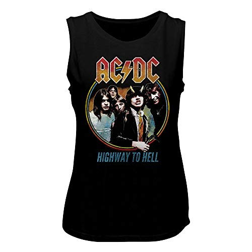 AC/DC – Camiseta de tirantes para mujer Highway to Hell Tricolor negro L