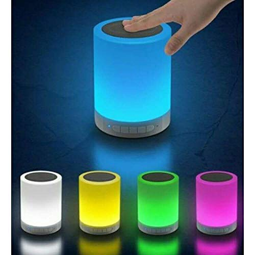 Expertzone Wireless Portable Bluetooth Speaker with Smart Touch LED Mood Lamp, Pen Drive, SD Card, AUX and Mic. Compatible with All Bluetooth Devices (Multi Color)