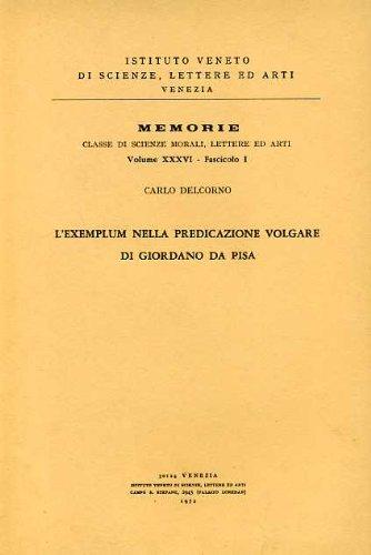L'Exemplum nella predicazione volgare di Giordano da Pisa.