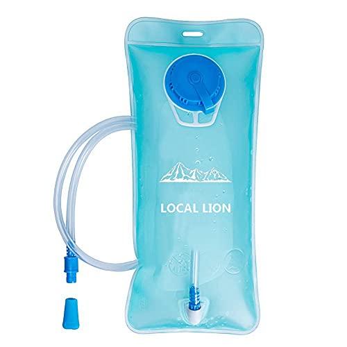 Local Lion Bolsa de Agua Portátil de 2 Litro Vejiga Hidratación Depósito Deporte para Ciclismo Senderismo Excursionismo Camping