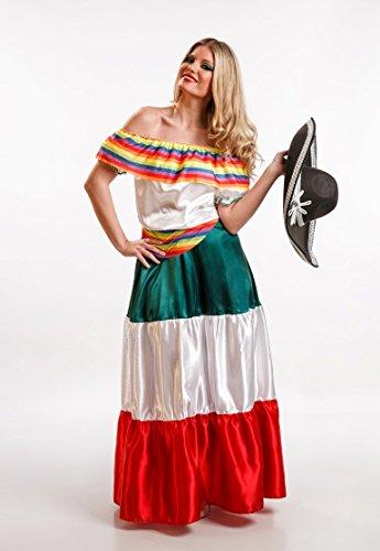 El Rey del Carnaval - Disfraz mexicana talla m: Amazon.es ...