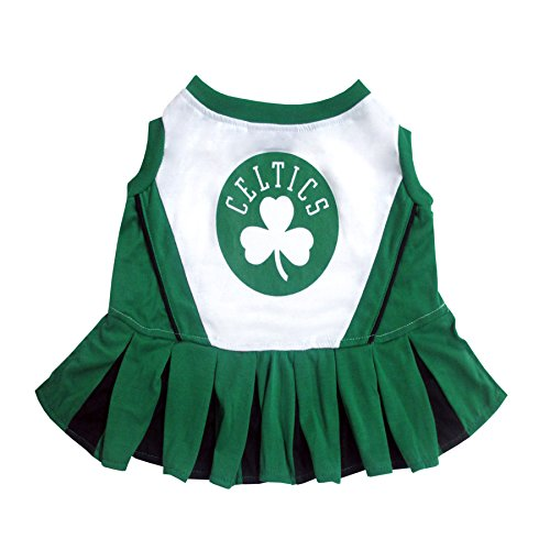 Pets First NBA Boston Celtics Dog Cheerleader Dress, Medium