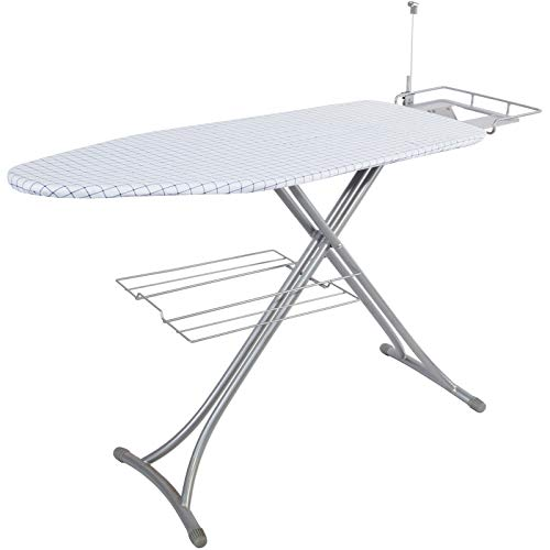 Bizroma Ironing Board Table with Steam Rest and...
