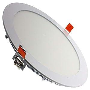 Downlight LED techo, redondo plano color de aro blanco, 20W Color Blanco Frío (6500K). 1800 Lumenes. Driver Ultra slim incluido.Gran angulo de apertura de 120º.Ahorro energético A++