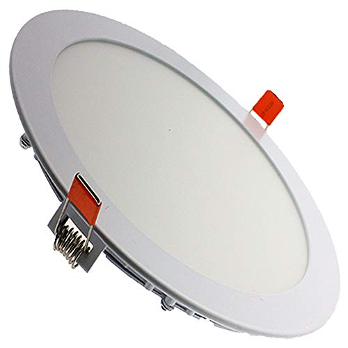 Downlight LED techo, redondo plano color de aro blanco, 20W Color Blanco...