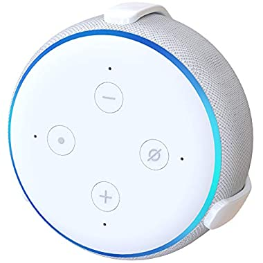 TotalMount Echo Dot (3rd Gen) Hole-Free Wall Mount (White) - Eliminates Need to Drill Holes in Your Wall
