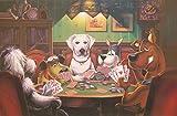 Puzzle 1500 Piezas Perros Jugando A Las Cartas Juntos Puzzle Para Adultos Rompecabezas De Madera Juguete Kit De Bricolaje Regalo De Vacaciones Único Decoración Del Hogar 87x57cm
