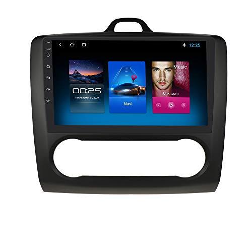 9 Pulgadas 2 DIN Android 10 Quad Core 2+32 GB Navegador GPS EstÉReo para AutomÓVil Adecuado para Ford Focus Exi En 2004-2011 Admite Bluetooth 4.0 Radio WiFi 4G