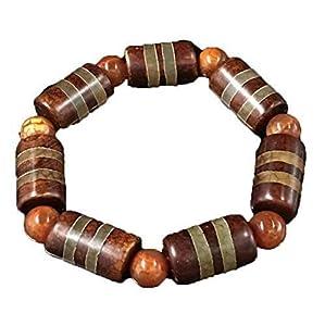 Damenmode Halskette Perlen Armband von Hand geschnitzt, poliert Armband Tianzhu tibetischen Dzi Armband neun Heben